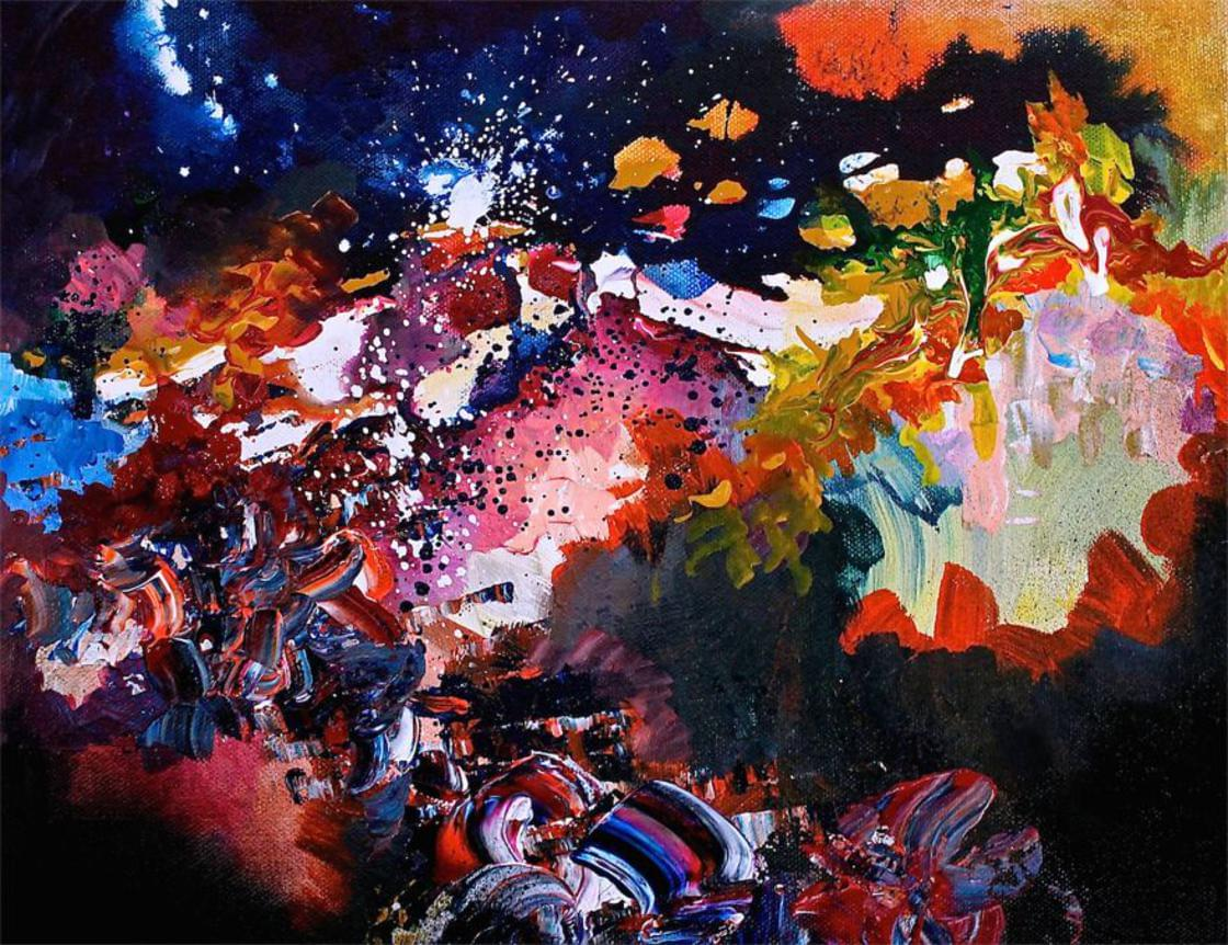 Born with Synesthesia, this artist paints the music she sees