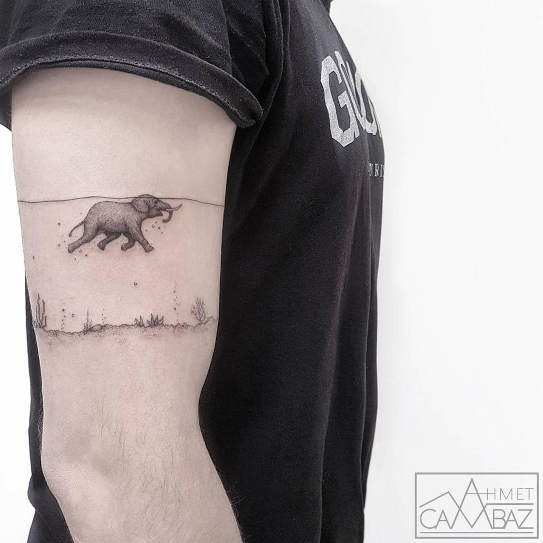 Simple but adorable, the tattoos of Ahmet Cambaz