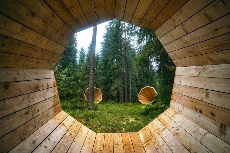 Design and Nature – Giant megaphones to listen to the sounds of the forest