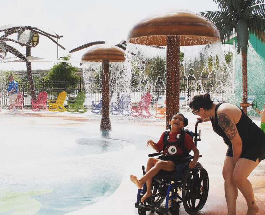 Finally, a water park suitable for children with disabilities