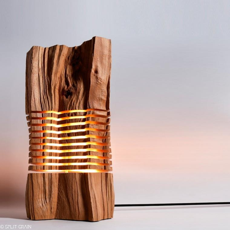 Light Structures – Some beautiful lamps made of sliced wood pieces