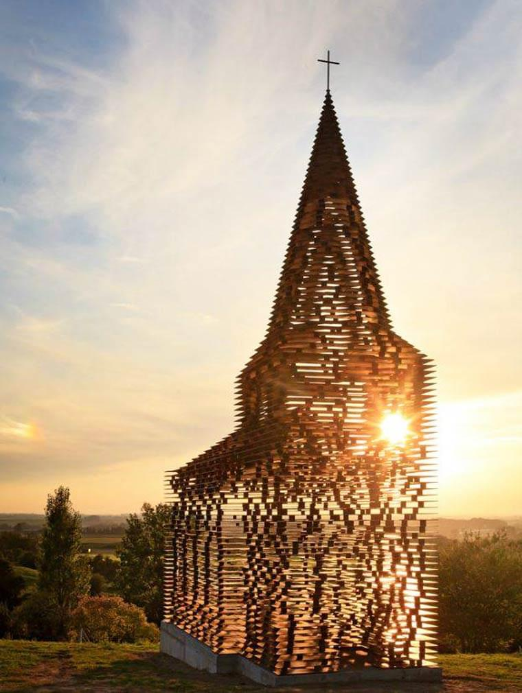 An amazing transparent church in Belgium