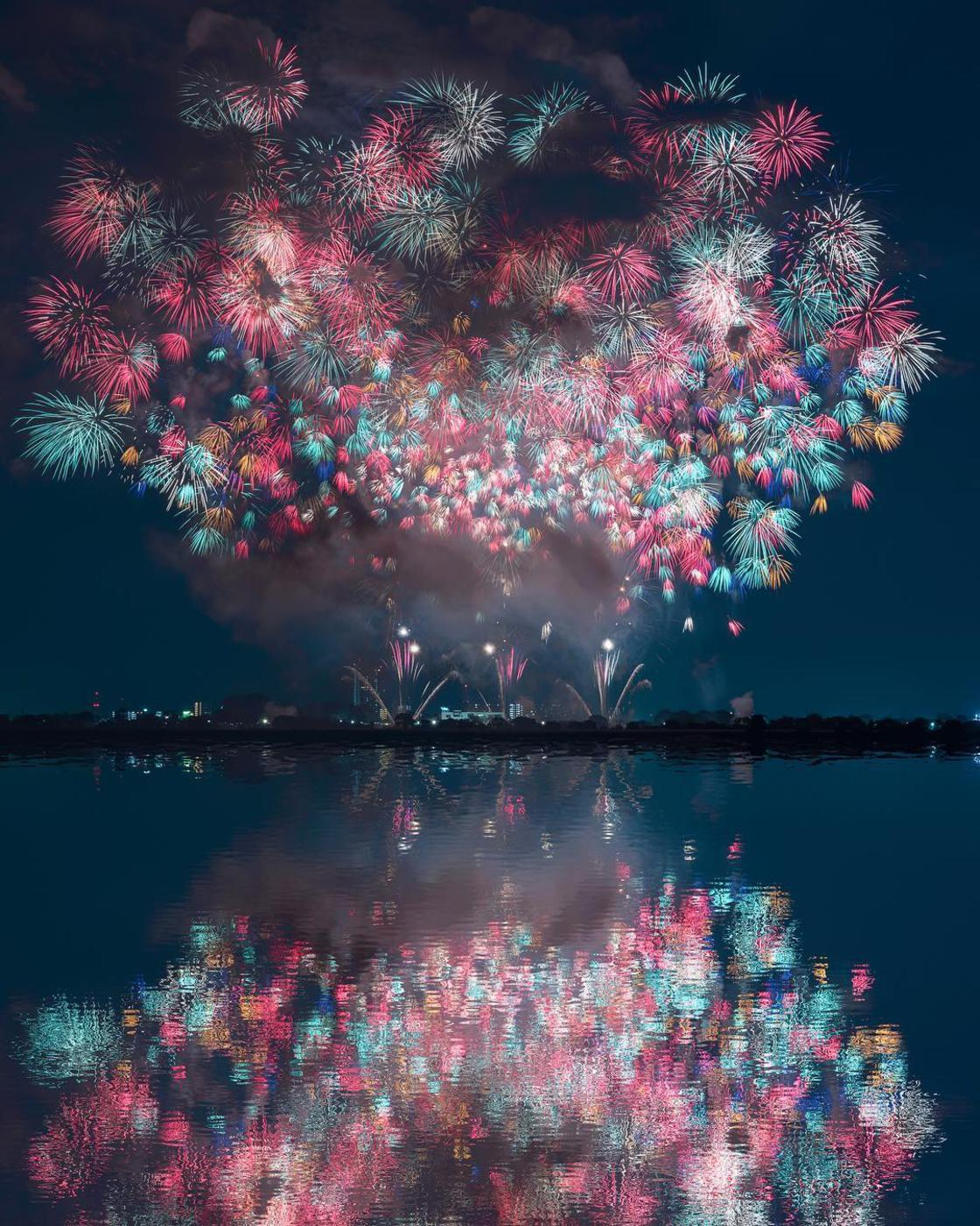 A photographer captures the beauty of fireworks in Japan