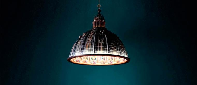 And light it was – A beautiful lamp in tribute to the Saint Peter's Basilica