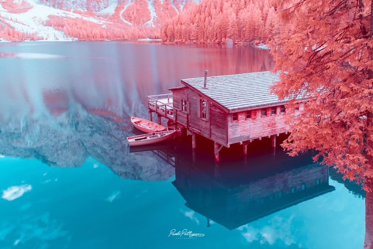 Gorgeous Candy Colored Infrared Photos of the Snowy Dolomite Mountains